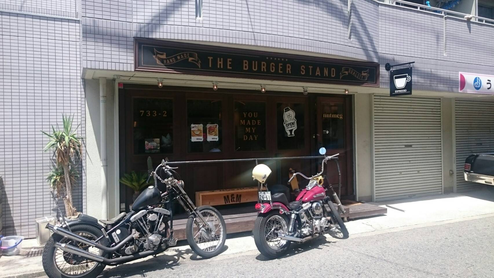 大阪堺市にある「ナツメグ」は雰囲気よくハンバーガーもおいしいお店